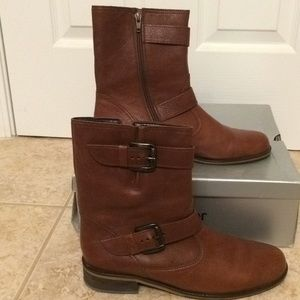 Gabor Buckled/Moto Brown Boots